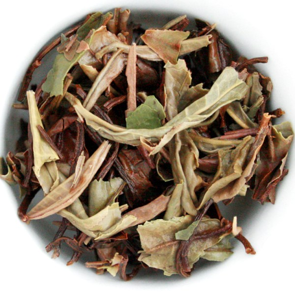 White Peony Loose Leaf White Tea wet leaf