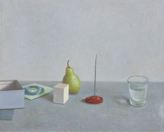 J.Scurry+Still+Life+with+Pear+and+Spike+2016+66x82cm++