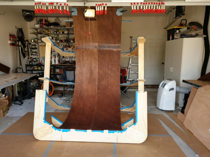 Stained CLC Camper Build Progress – The CLC Teardrop Camper Builders