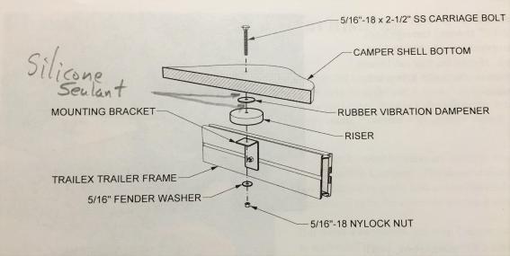 riser/dampener modifications
