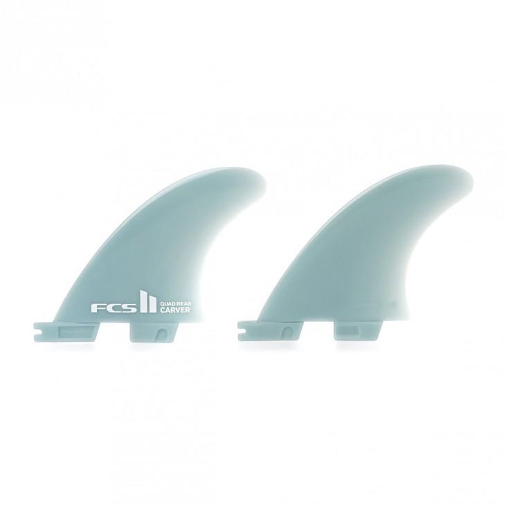 Surfboard Longboard Side Bites Fins.GL Twin Fin FCS Fit 2 Fins Blue.Rear Quads