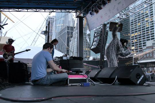 Black Moth Super Rainbow at the Seaport Music Festival