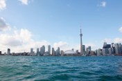 Toronto skyline, Toronto Harbor, Lake Ontario, Canada