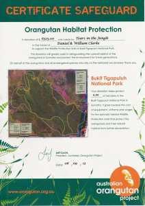 Orangutan Habitat Protection Certificate