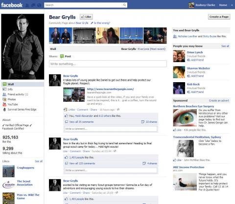 20111121 Bear Grylls Facebooked the book