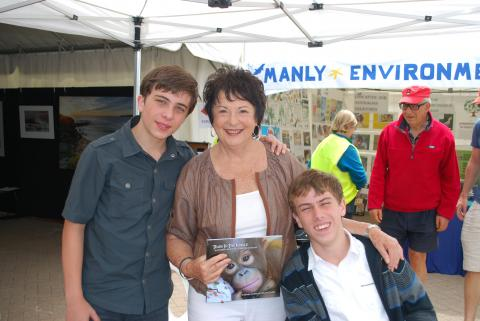 Daniel and William with Mayor of Manly, Jean Hay