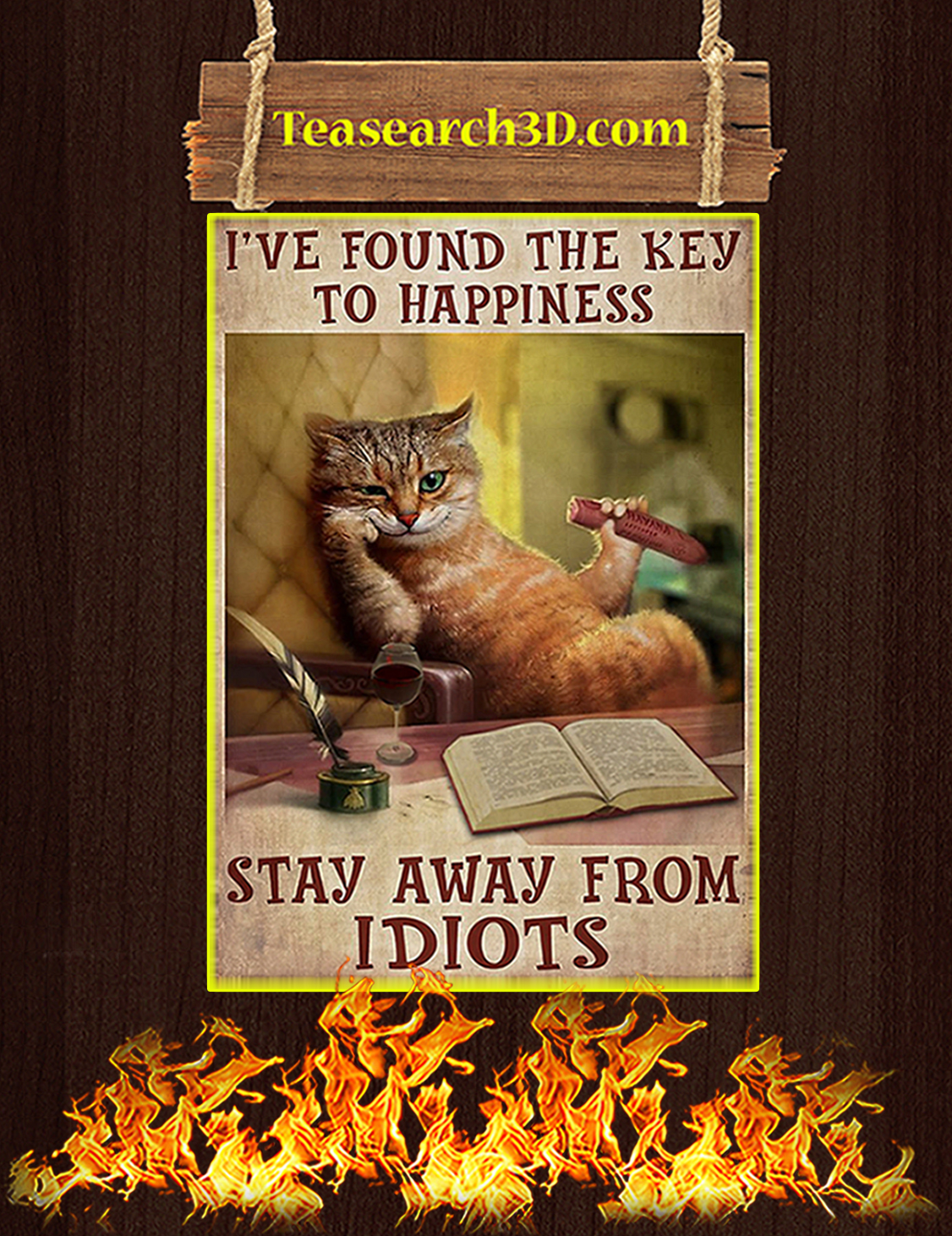 happiness stay away from idiots poster