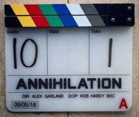 Annihilation Movie - Film clapperboard