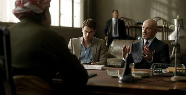 Backstabbing For Beginners Movie - Theo James and Ben Kingsley