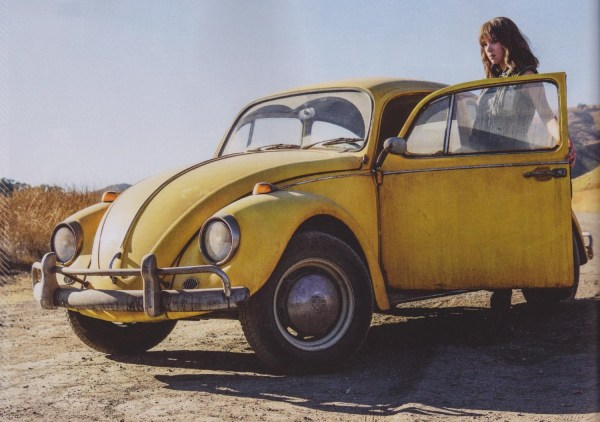 Bumblebee First Official Picture - Love bug: troubled Charlie Watson (Hailee Steinfeld) finds her soulmate in a sentient VW Beetle car.