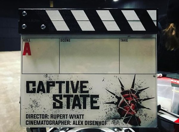 Captive State Film Clapperboard