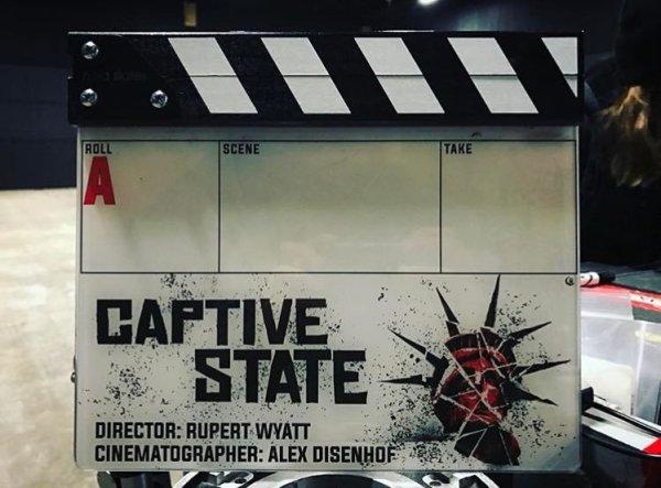 Captive State Film Clapperboard