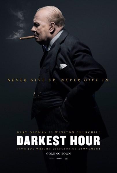 Darkest Hour Smoking Cigar Poster