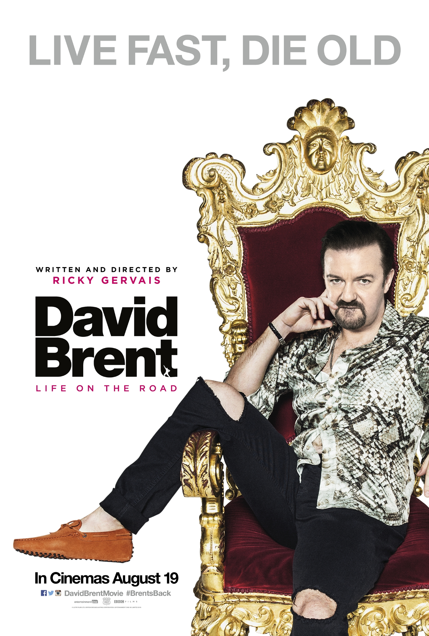 david brent life on the road movie posters teaser trailer