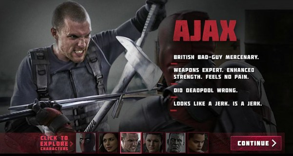 Deadpool - Ed Skrein as Ajax