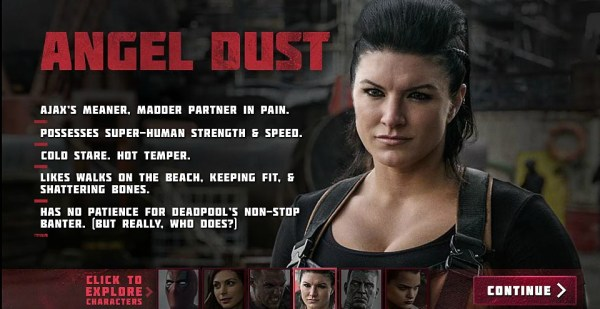 Deadpool Movie - Gina Carano as Angel Dust