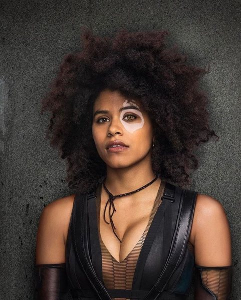Zazie Beetz as Domino in Deadpool 2.