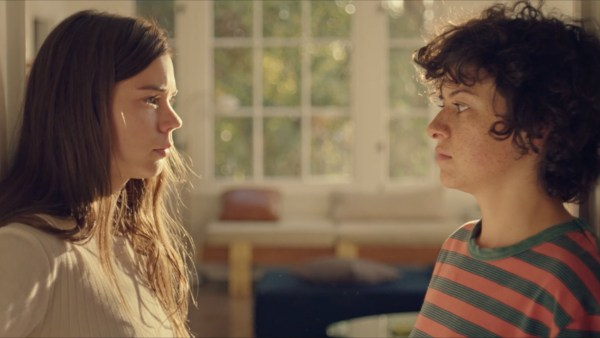 Alia Shawkat as Alia and Laia Costa as Laia in the movie DUCK BUTTER.