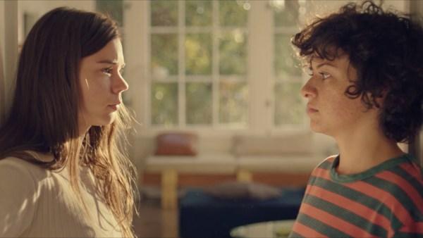 Alia Shawkat as Alia and Laia Costa as Laia in the movie DUCK BUTTER.