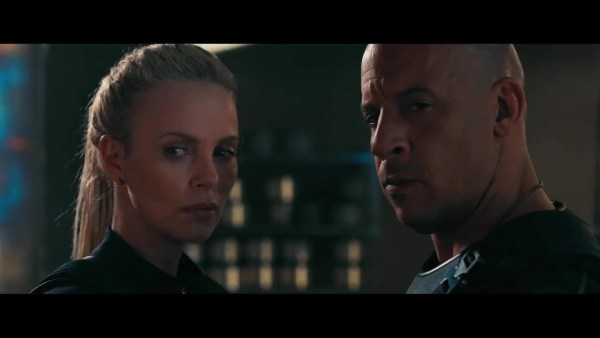 Fast And Furious 8 Movie - Charlize Theron And Vin Diesel