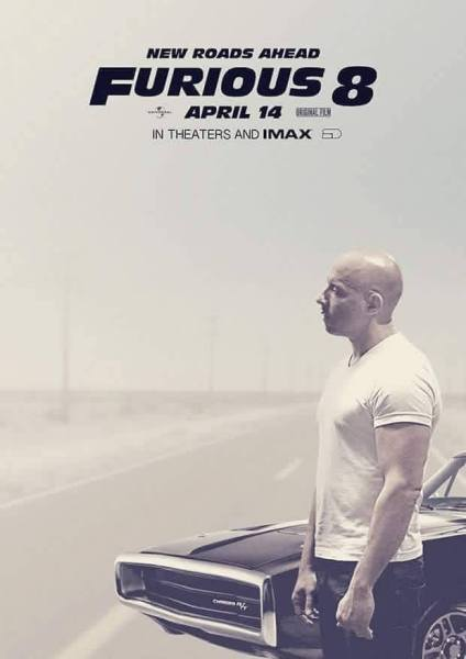 Furious 8 Movie Poster - Vin Diesel