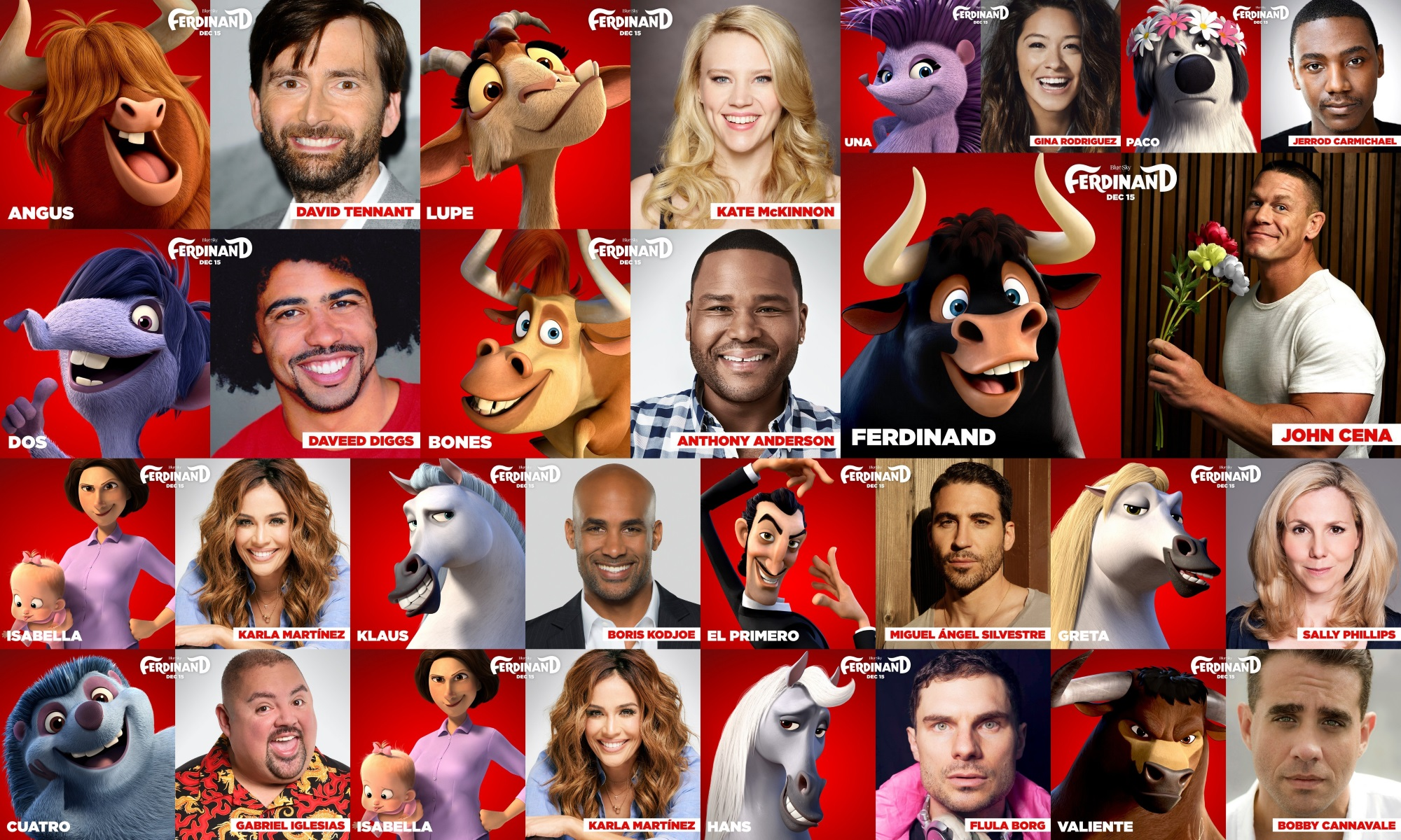 ferdinand movie voice cast and characters teaser trailer