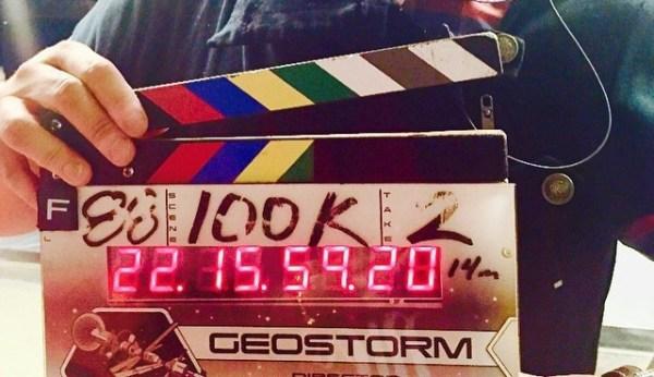 Geostorm Film clapperboard