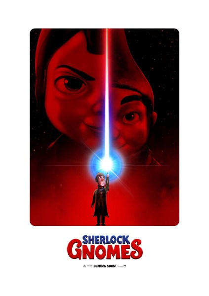 Gnomeo And Juliet 2 Sherlock Gnomes Star Wars The Last Jedi Spoof Poster