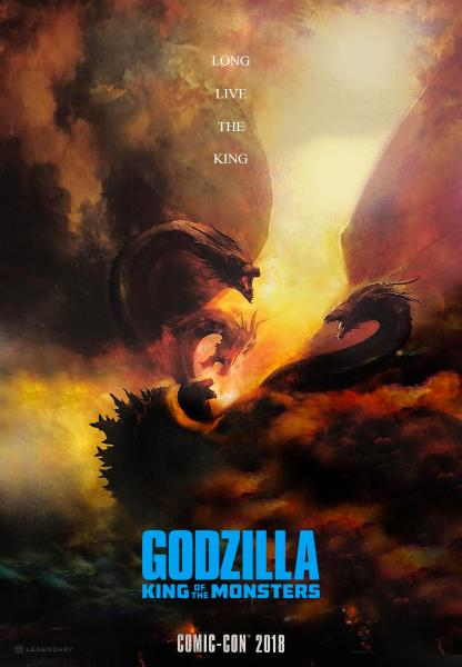 Godzilla 2 King Of The Monsters Comic Con Poster