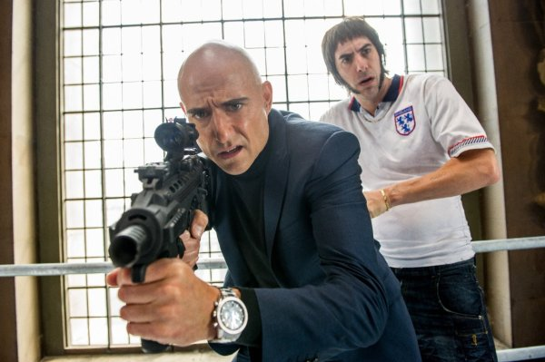 Grimsby - Sacha Baron Cohen and Mark Strong