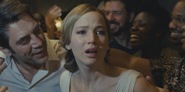 Javier Bardem And Jennifer Lawrence In Mother