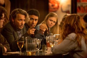 Johnny Depp, Zoey Deutch, And Megan Peta Hill In The Professor