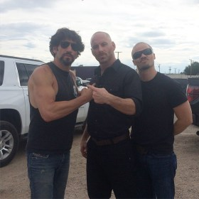 Jon Bernthal, Matt Gerald, and Evan Jones - Shot Caller Movie