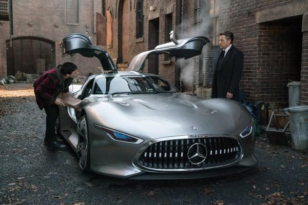 Justice League movie - Batman and Flash - Mercedes Benz Car