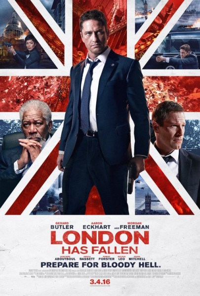 London Has Fallen UK Flag poster