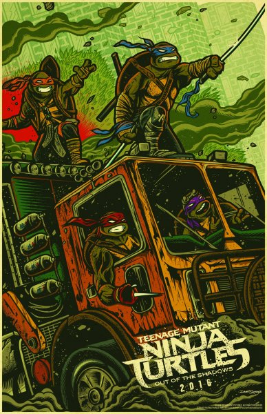 Ninja Turtles 2 WonderCon Poster