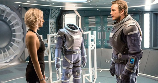 Passengers Jennifer Lawrence And Chris Pratt