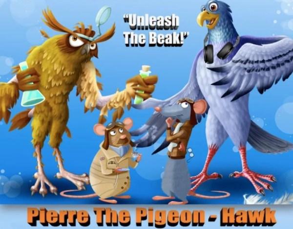 Pierre The Pigeon Hawk Movie Art