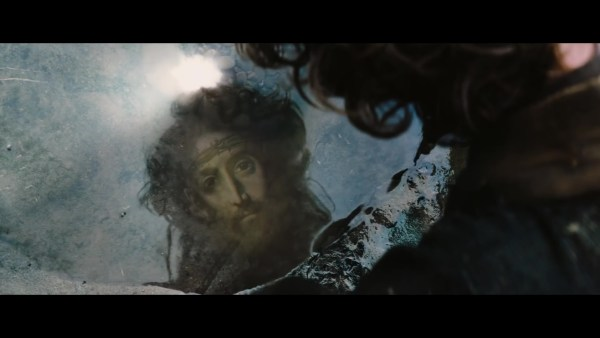 Silence Movie - Jesus Christ image in the water