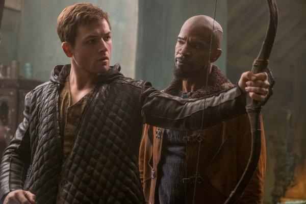 Taron Egerton and Jamie Foxx - Robin Hood Movie