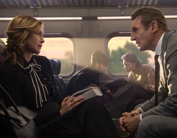 The Commuter Movie - Vera Farmiga And Liam Neeson