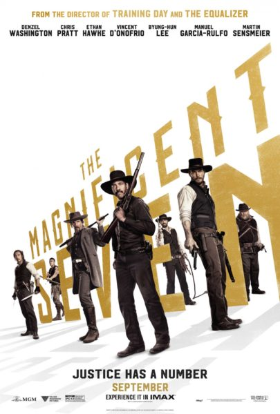 The Magnificent Seven new poster - Justice has a number.