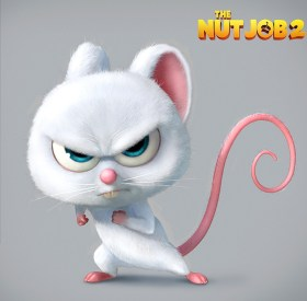 The Nut Job 2 Movie - White Mouse voiced by Jackie Chan