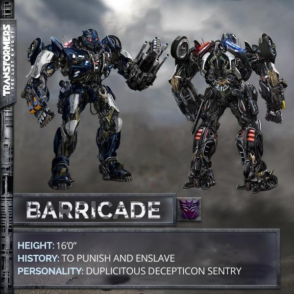 Transformers The Last Knight movie - Barricade