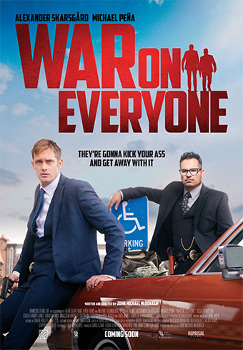 War on Everyone new poster