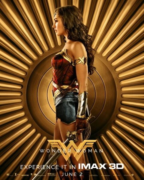 Wonder Woman Gold Poster