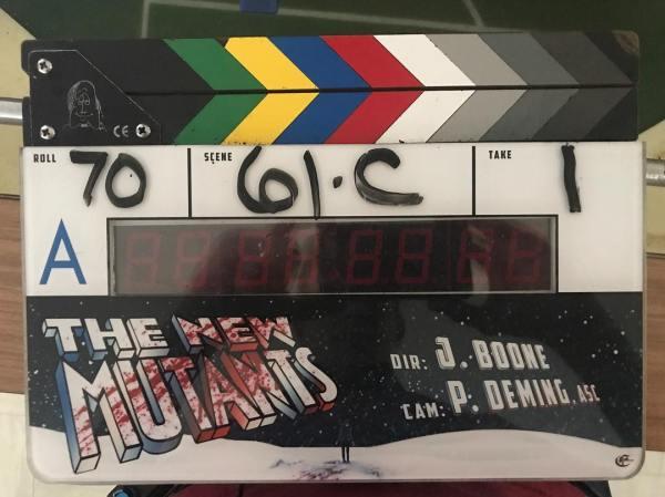 X Men The New Mutants Movie Film Clapperboard