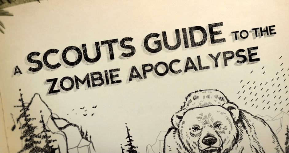 Nifty Illustrated Poster for 'Scouts Guide to the Zombie ...