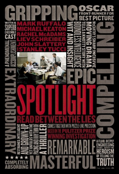 spotlight new text poster