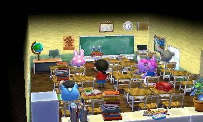 学校 教室 どうぶつの森ハッピーホームデザイナー